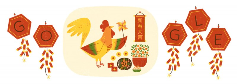 Google doodle chinese new year 2017