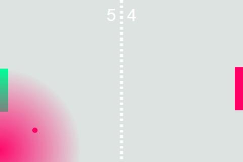Pong with SVGjs - color blast
