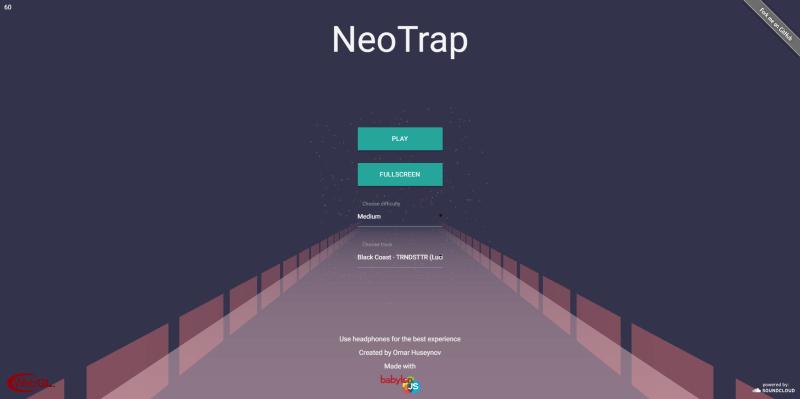 Neotrap menu selection