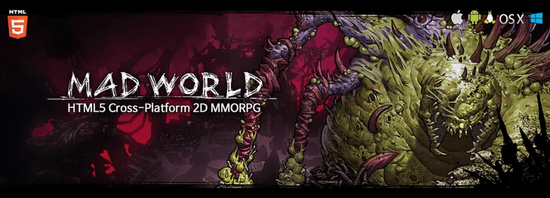 Mad world HTML5 MMORPG banner