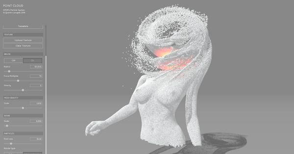 Point Cloud Sandbox WebGL Particle System 9
