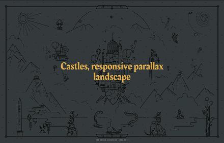 Castles, responsive parallax landscape - mainscreen