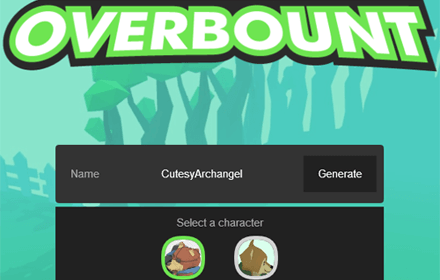 overbount main menu
