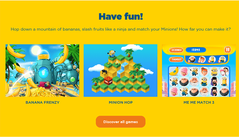 Despicable Me HTML5 Games