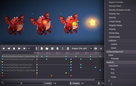 Godot game engine interface