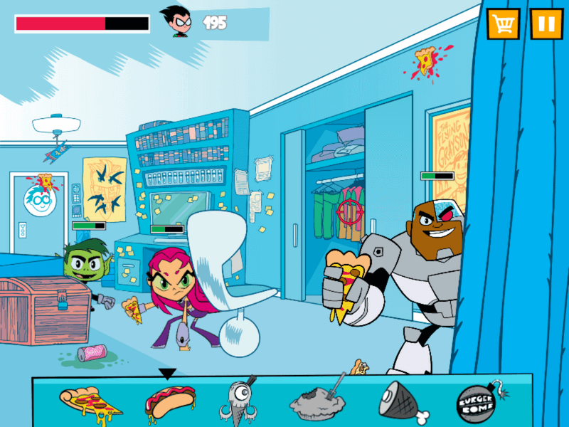 Teen Titans Go Food Fight Game