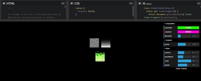 Stylized Fire Shader Editor | HTML5 Game Development