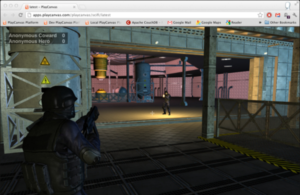 PlayCanvas WebGL 3rd Person Multiplayer Demo   HTML5 Game