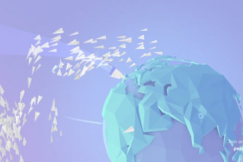 Paper Planes HTML5 game development (banner)