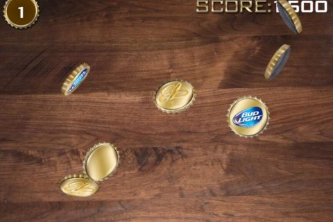 budlight beer bottle cap game - screenshot