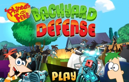 Phineas and Ferb Backyard Defense Game